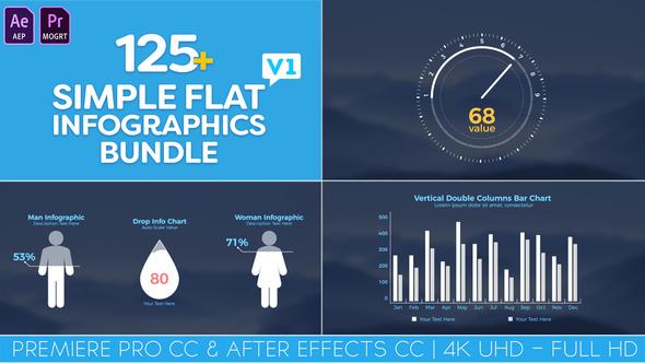 Simple Flat Infographics Bundle - VideoHive 22266430