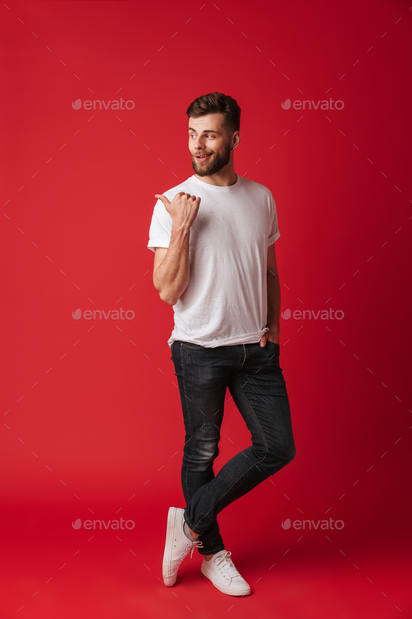 Attractive young handsome man - Stock Photo - Images