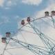 Ferris Wheel on Sky Background - VideoHive Item for Sale