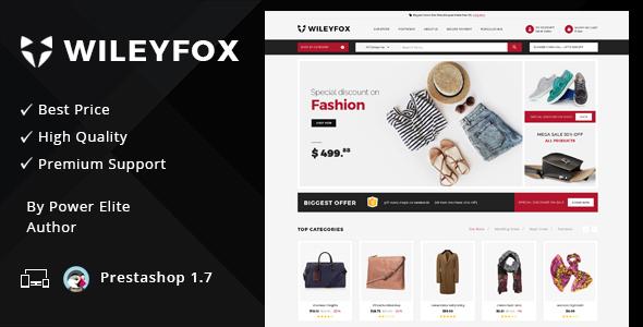 Wileyfox Mega - Responsive Prestashop 1.7.x Theme - Shopping PrestaShop