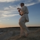 Movement of the Camera Around an Athlete Master Martial Arts - VideoHive Item for Sale