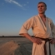 An Athlete Looks at the Sunset After a Hard Karate Training Session - VideoHive Item for Sale