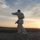 A Man in a Kimono Trains Before a Fight - VideoHive Item for Sale