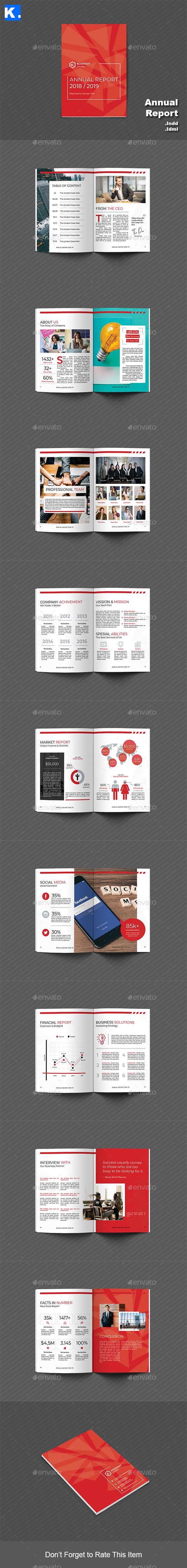 Annual Report Template 1 - Informational Brochures