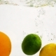 Lemon, Orange and Lime Fall in Water.  Fruit with Bubbles on Isolated Background. - VideoHive Item for Sale