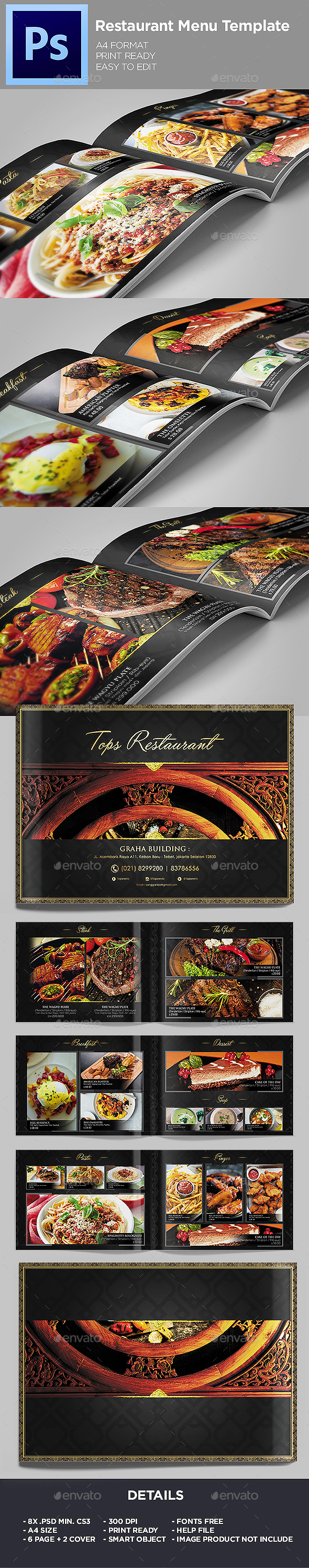 restaurant menu food menu template food menus print templates