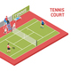 Sport Tennis Court Isometric - GraphicRiver Item for Sale