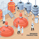 Brewery Production Isometric Illustration - GraphicRiver Item for Sale