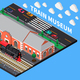 Train Museum Isometric Composition - GraphicRiver Item for Sale