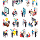 Business Coaching Isometric Icons - GraphicRiver Item for Sale