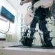 Physically Challenged Person Is Training His Legs on a Running Track Electronic Medical Robotic - VideoHive Item for Sale