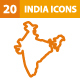 20 India Icons - GraphicRiver Item for Sale