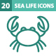20 Sea Life Icons - GraphicRiver Item for Sale
