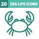 20 Sea Life Icons