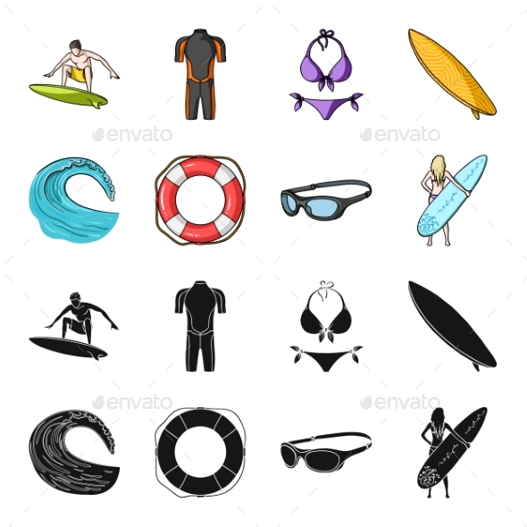 Surfing - Sports/Activity Conceptual