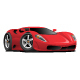 Red Hot European Style Sports Car Cartoon