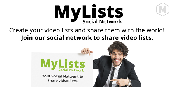 MyLists - Your Social Network to share Video Lists - CodeCanyon Item for Sale