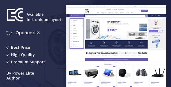 Image of eCode - Multipurpose OpenCart 3 Theme