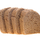 Chocolate bread sliced lay on white background. - PhotoDune Item for Sale