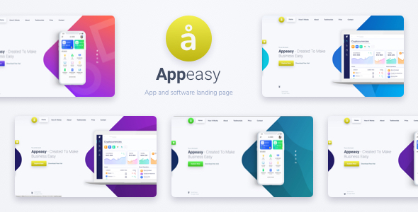 Appeasy - App and Software Landing Page HTML Template - Technology Site Templates