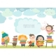 Group of Cartoon Children Reading Books - GraphicRiver Item for Sale