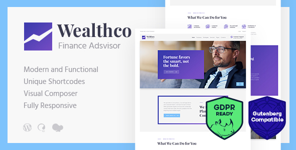Image of WealthCo | A Fresh Business & Financial Consulting WordPress Theme