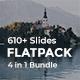 4 in 1 FlatPack Bundle Powerpoint Template