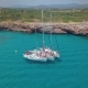 Yacht Sailing on Open Sea at Sunny Day. Sailing Boat in . Sailing Aerial  Video - VideoHive Item for Sale