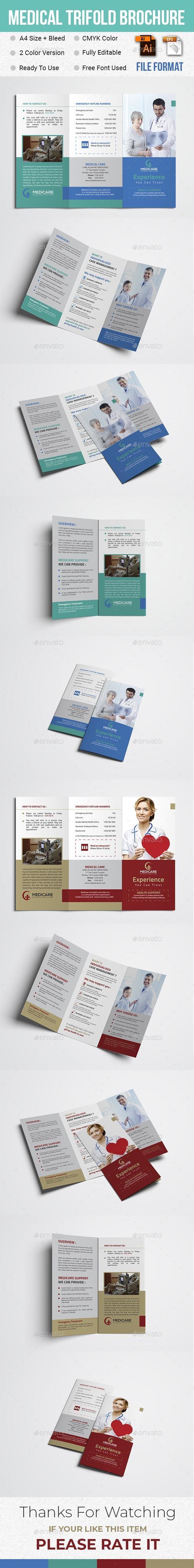 Medical Trifold Brochure - Brochures Print Templates