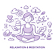 Relaxation and Meditation Doodle - GraphicRiver Item for Sale