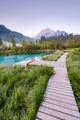 Wooden bridge in Zelenci parkland, Slovenia - PhotoDune Item for Sale
