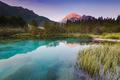 Beautiful sunrise over emerald green water in Zelenci spring - PhotoDune Item for Sale