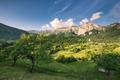Rural landscape and village in Slovenia Julian Alps - PhotoDune Item for Sale