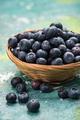 Fresh ripe blueberry in basket - PhotoDune Item for Sale
