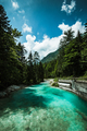 Emerald green water of Soca river, Slovenia - PhotoDune Item for Sale