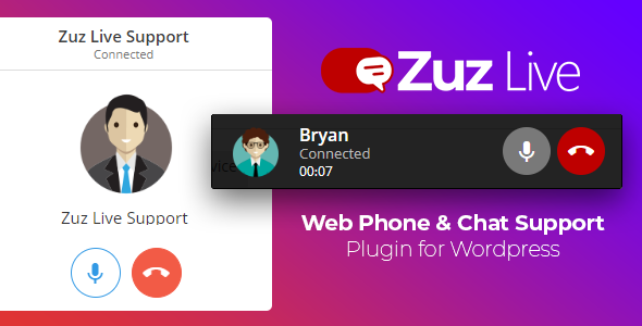 Zuz Live Web Phone Call & Chat Support Plugin for Wordpress            Nulled