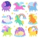 Pony Vector Cartoon Unicorn or Baby Character
