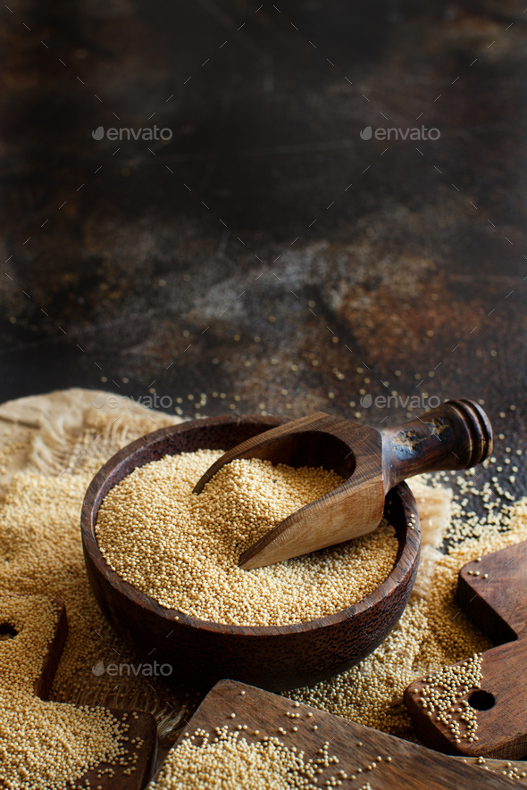 Raw Organic Amaranth grain - Stock Photo - Images