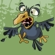 Cartoon Crow Rages Open Toothy Beak - GraphicRiver Item for Sale