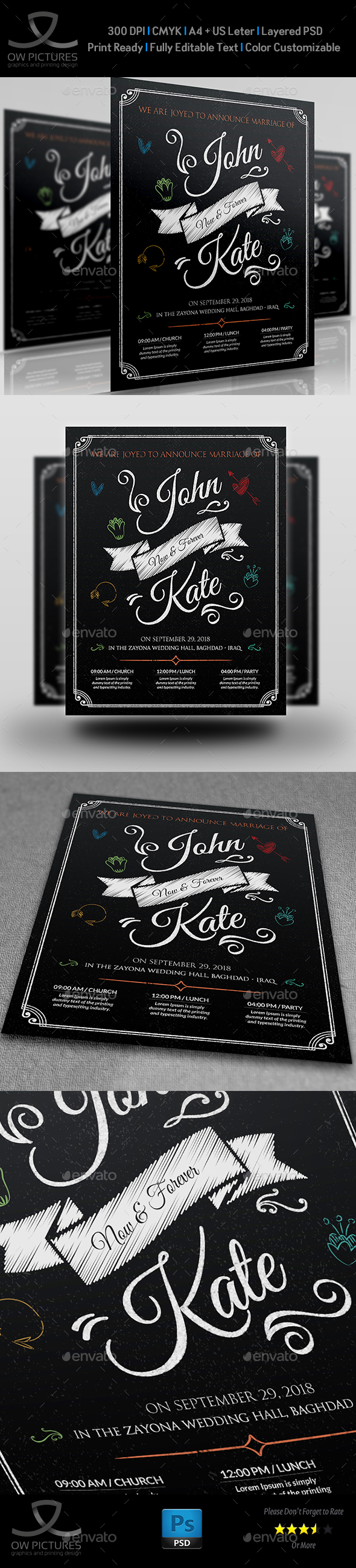 Wedding Party Flyer Template Vol.8 - Events Flyers