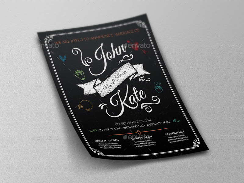 Wedding Party Flyer Template Vol8 By Owpictures Graphicriver