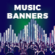 Music Web Banners - GraphicRiver Item for Sale