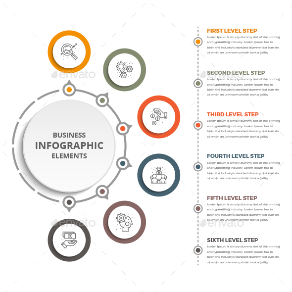 Business Circle Infographics Template - Infographics