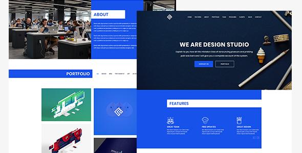 Mamur One Page Creative Agency PSD Template