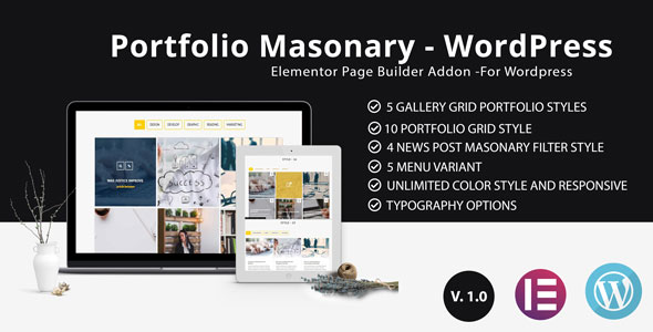 Portfolio - Grid masonry portfolio filter plugin for Elementor Page Builder - CodeCanyon Item for Sale