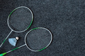 Badminton racket and shuttlecock - PhotoDune Item for Sale