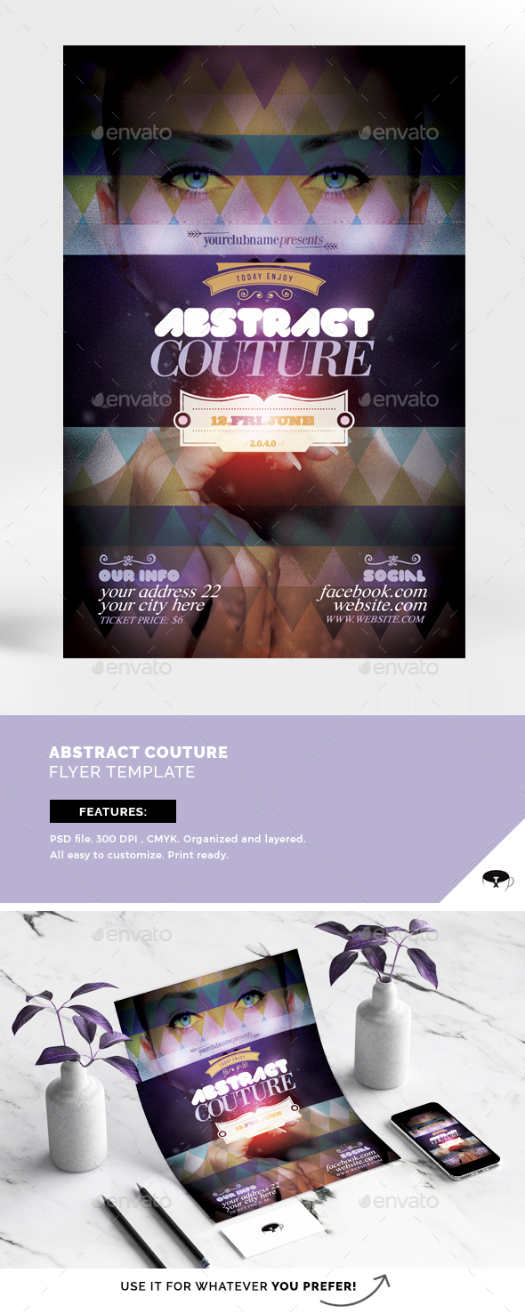 Abstract Couture Flyer Template - Events Flyers