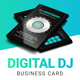 Digital DJ Business Card PSD Template - GraphicRiver Item for Sale