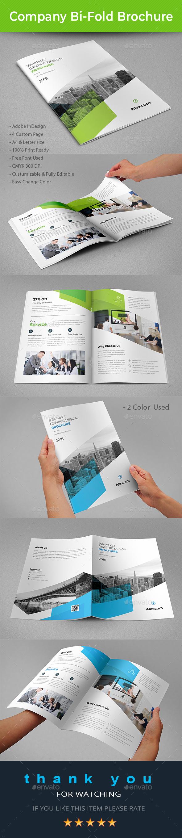 Company Bi-Fold Brochure - Brochures Print Templates