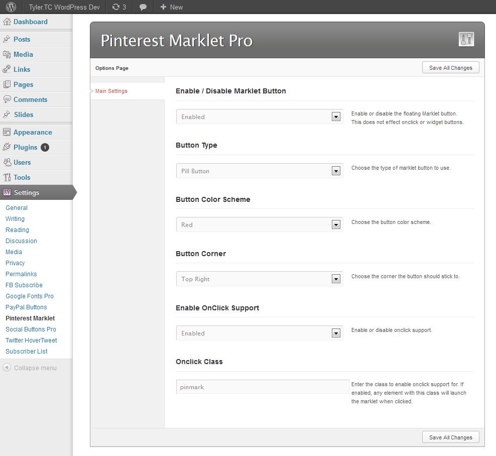 Pinterest Marklet for WordPress